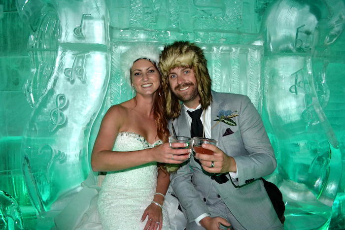 Bride and Groom Minus 5 Ice Bar