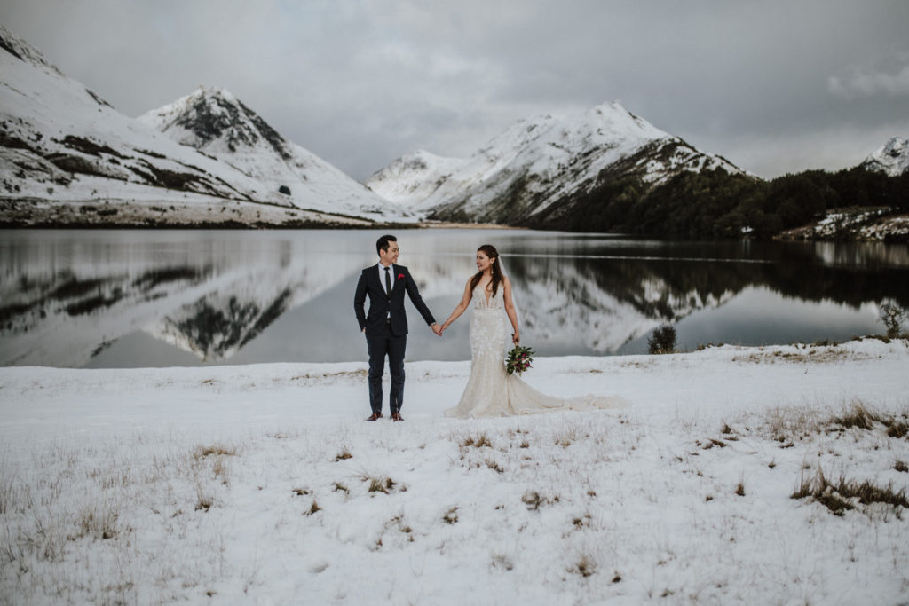 Moke Lake Winter Wedding